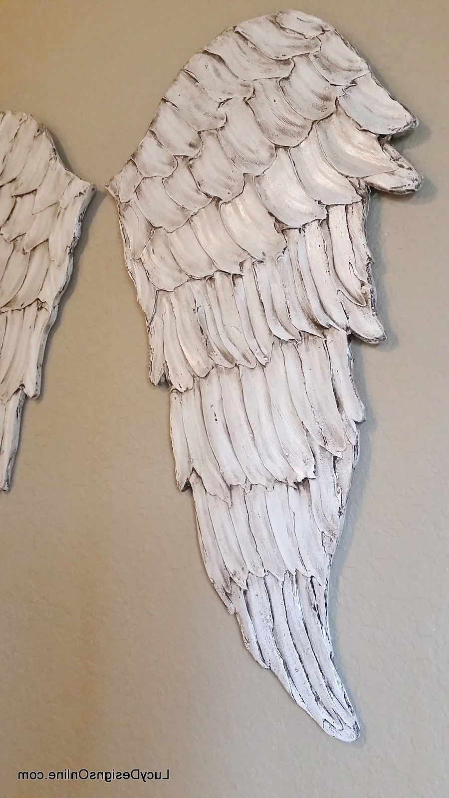 Wood Angel Wings Wall Art, Carved Wood Look, International With Regard To Current Angel Wing Wall Art (View 14 of 15)