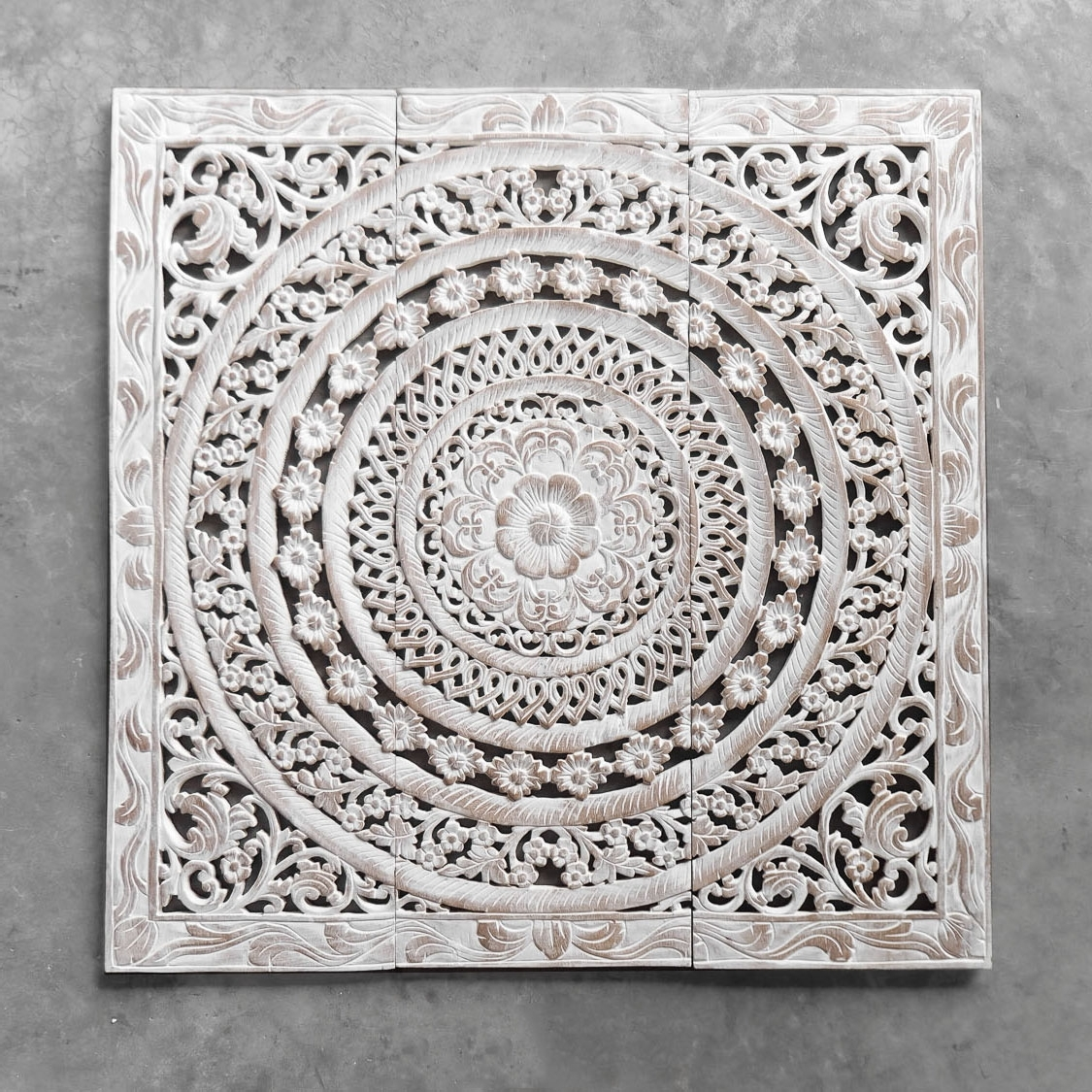 Wood Carved Wall Art Panels With Regard To Current Moroccan Decent Wood Carving Wall Art Hanging – Siam Sawadee (View 3 of 15)