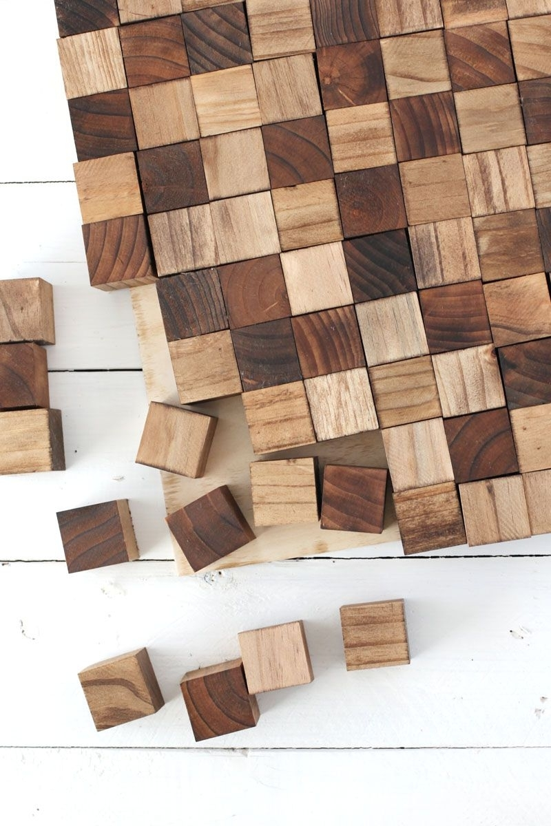 Wood Wall Art Inside Most Popular Create A Wooden Mosaic Wall Art With Simple Supplies You Can Find (View 15 of 15)