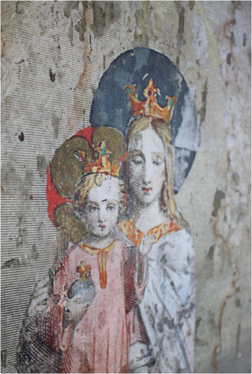 Wood Wall Art With Virgin Mary And Angels/cherubs In Antique Throughout Well Liked Vintage Style Wall Art (View 14 of 15)