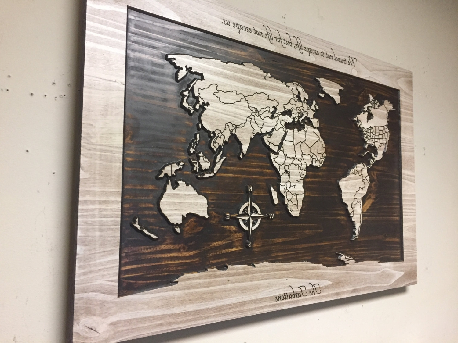 Wood Wall Art, World Map Wall Art, Carved Wooden World Map With With Regard To Favorite World Wall Art (View 13 of 15)