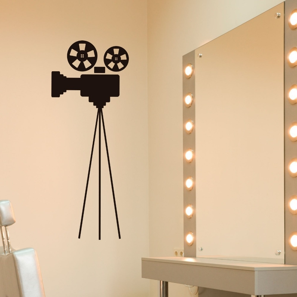 Wooden Film Reel Wall Decor • Walls Decor Inside Fashionable Film Reel Wall Art (View 15 of 15)
