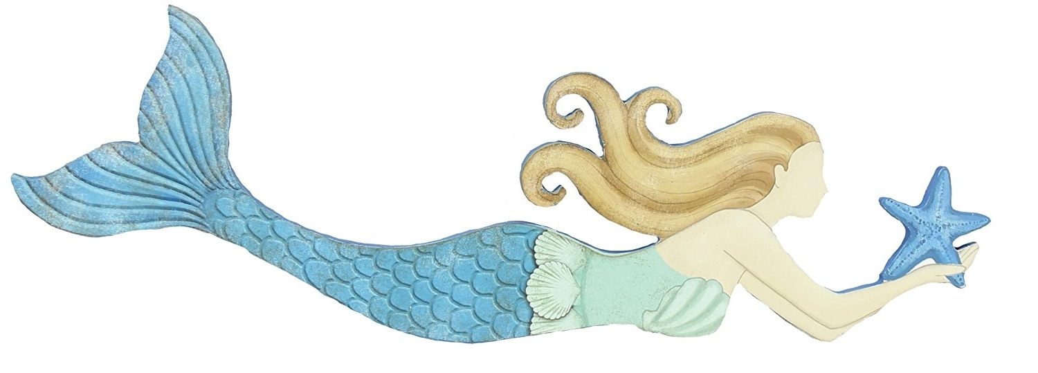 Wooden Mermaid Wall Art With Current Mermaidhomedecor – Mermiad Wall Art – Wood (View 12 of 15)