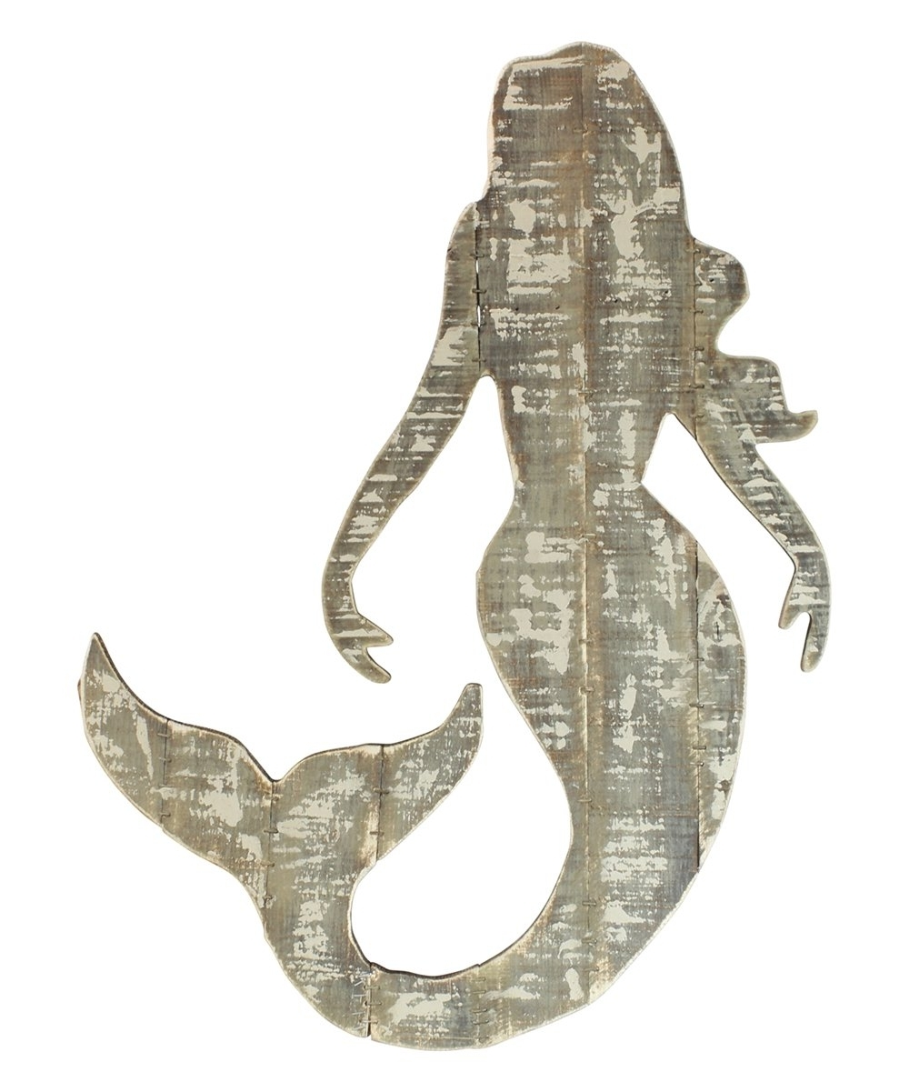 Wooden Mermaid Wall Art With Regard To Well Known Wood Slat Mermaid Wall Art (View 14 of 15)