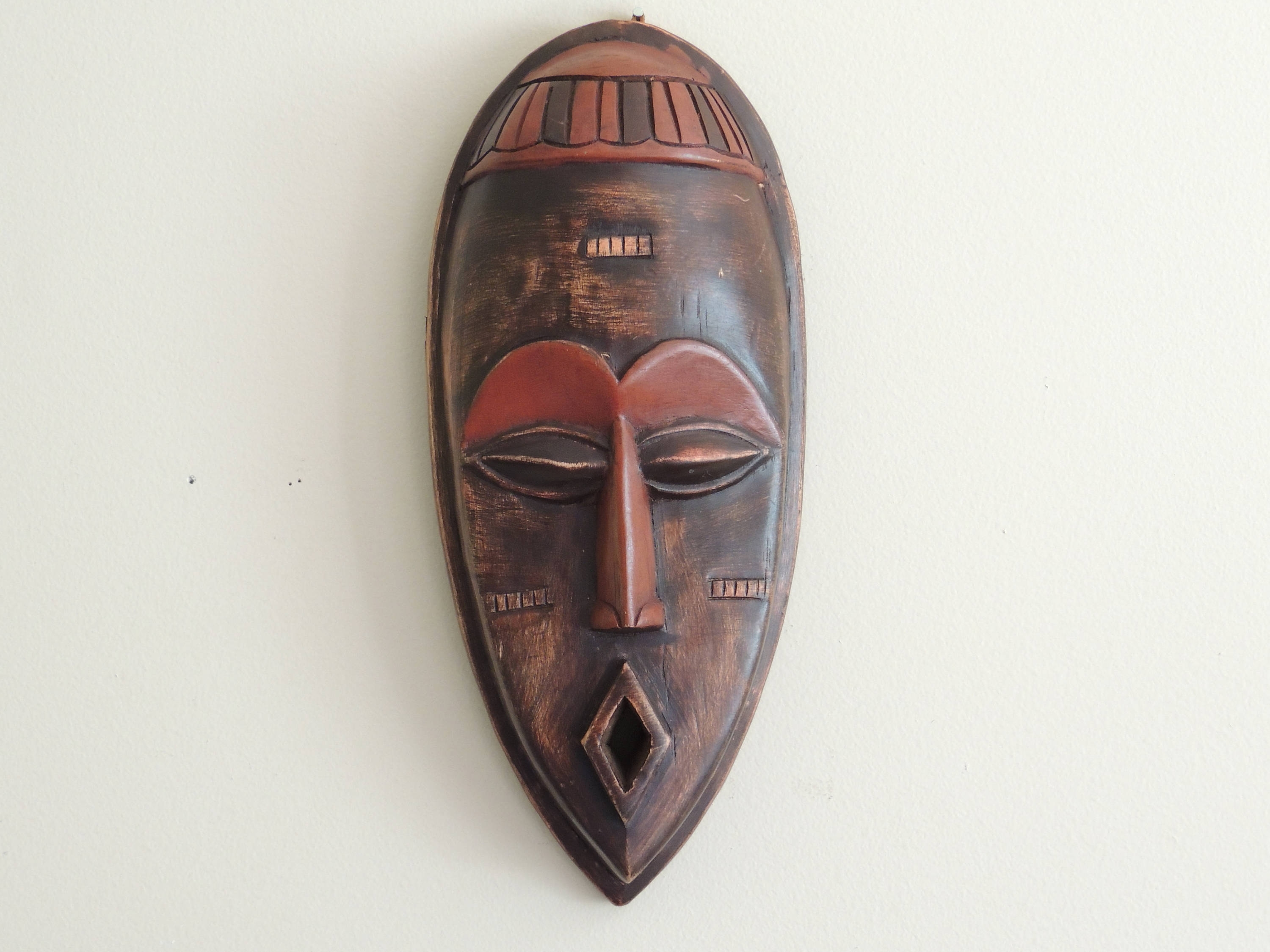 Wooden Tribal Mask Wall Art Inside 2018 Vintage African Mask, Tribal Mask, Hand Carved Wood Mask, Ghana (View 12 of 15)