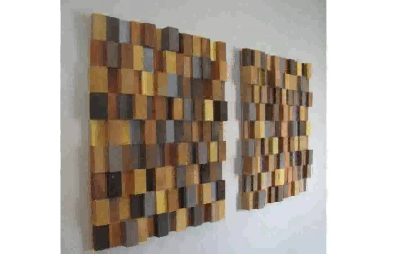 Wooden Wall Art – Youtube With Most Up To Date Wall Art On Wood (View 4 of 15)