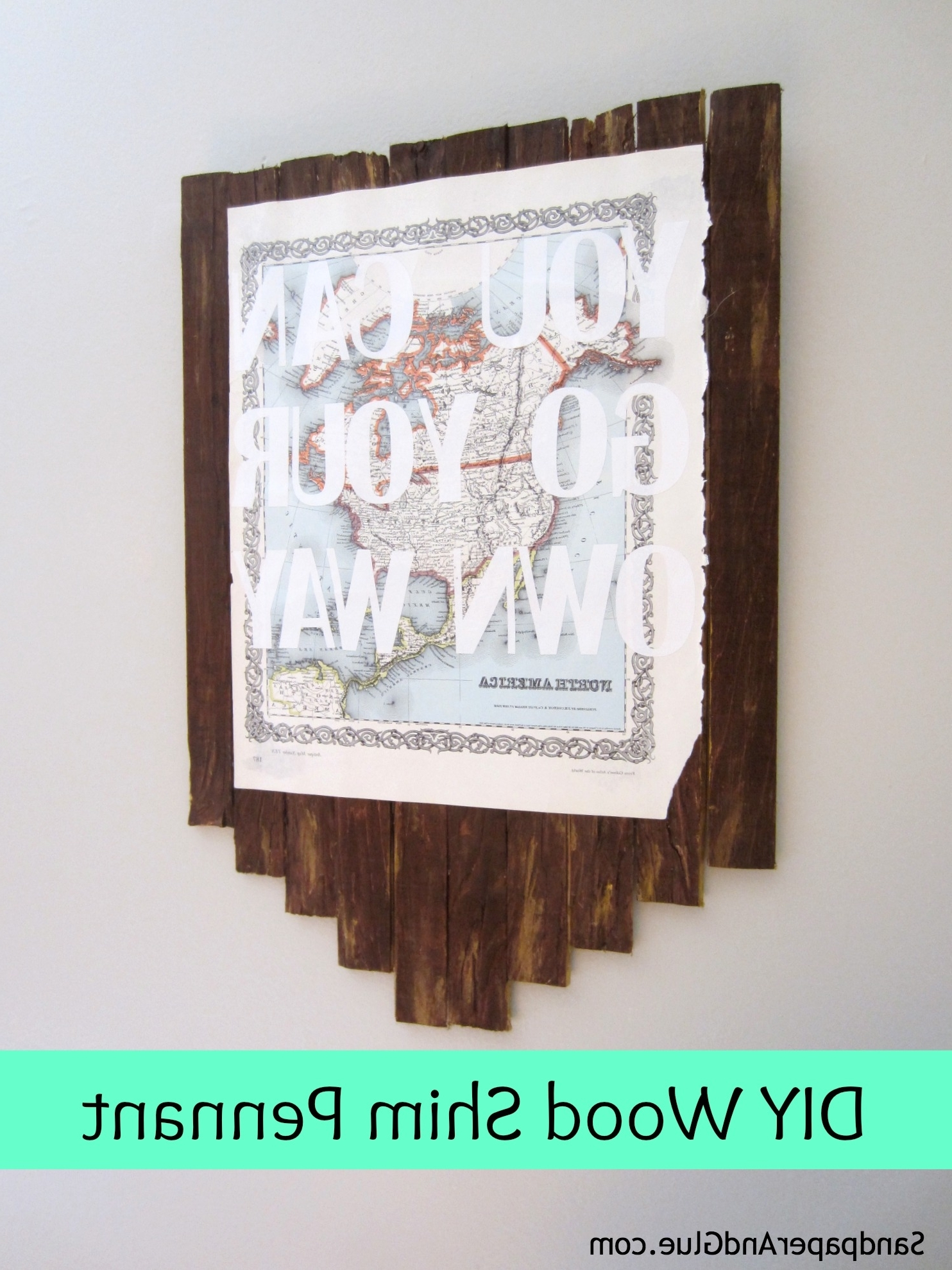 Wooden Word Art For Walls Pertaining To Trendy Wood Shims And Word Art (And The September Silhouette Challenge (View 13 of 15)