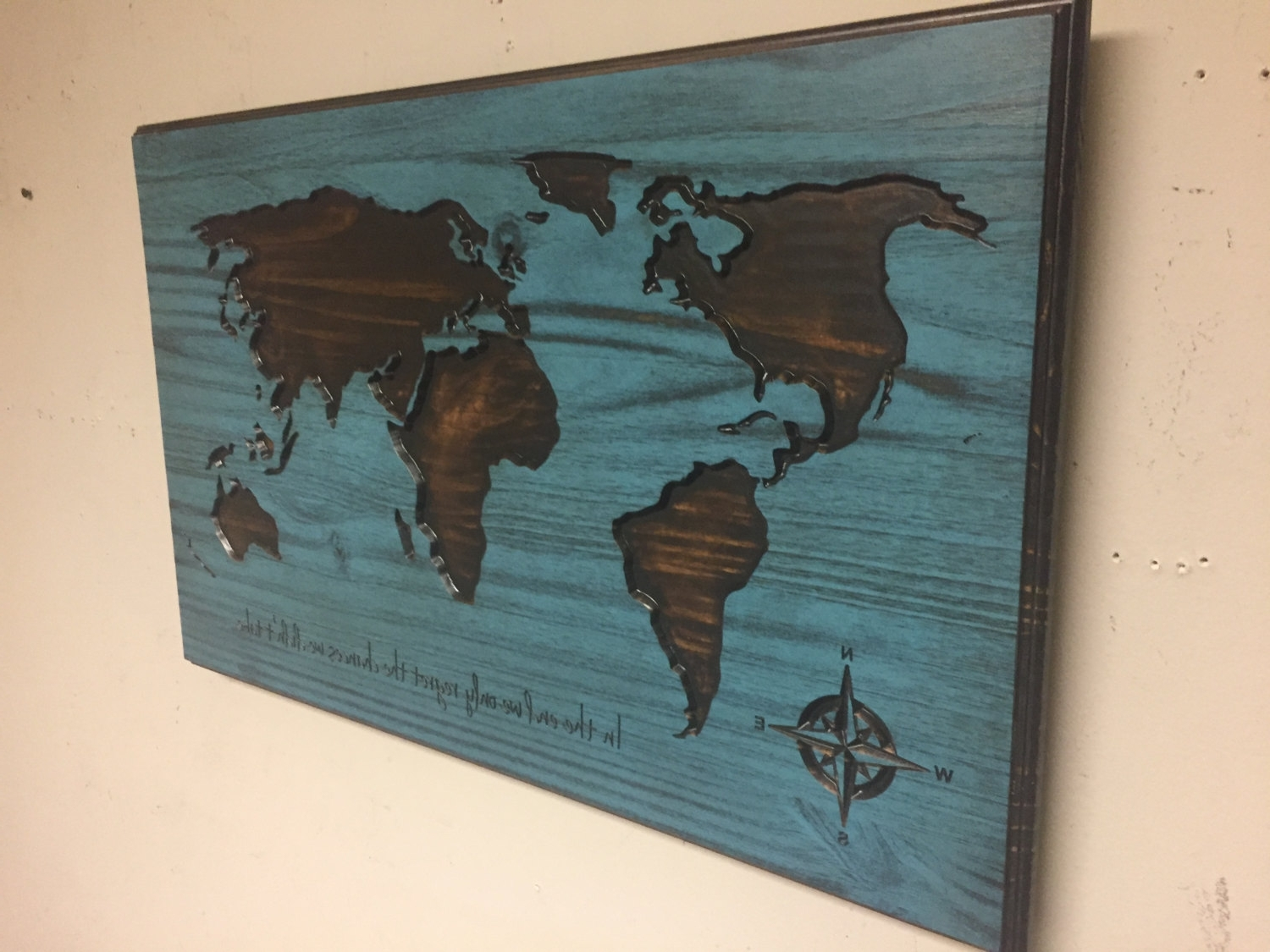 Wooden World Map, Map Wall Art, Large Carved Map, Vintage Map Pertaining To Current World Map Wood Wall Art (View 10 of 15)