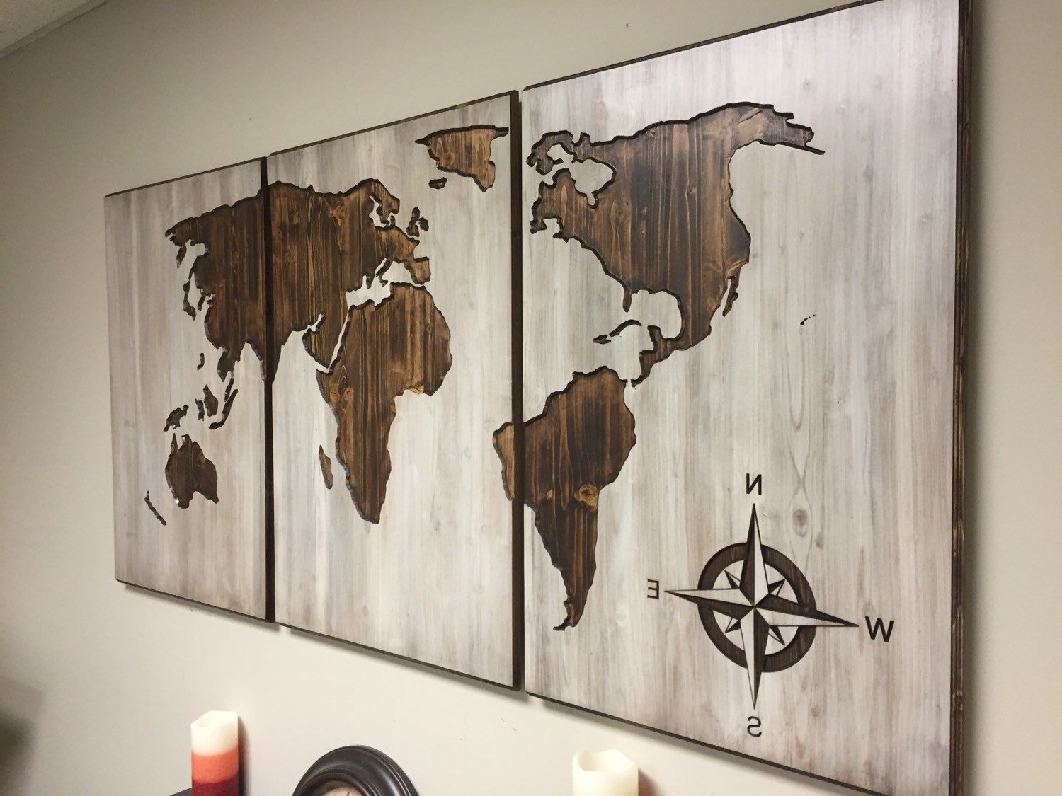 Wooden World Map Wall Art Within Fashionable A Personal Favorite From My Etsy Shop Https://www (View 14 of 15)