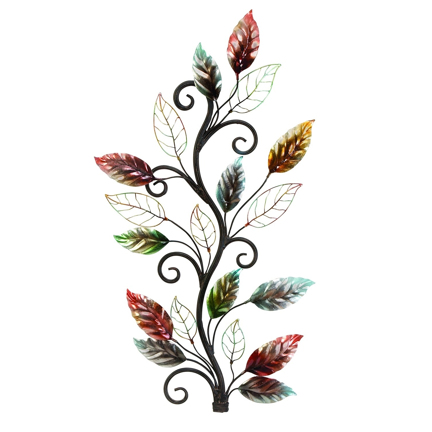 Woodland Imports 13412 Metal Floral Branch Wall Decor In For Well Known Floral & Plant Wall Art (View 14 of 15)