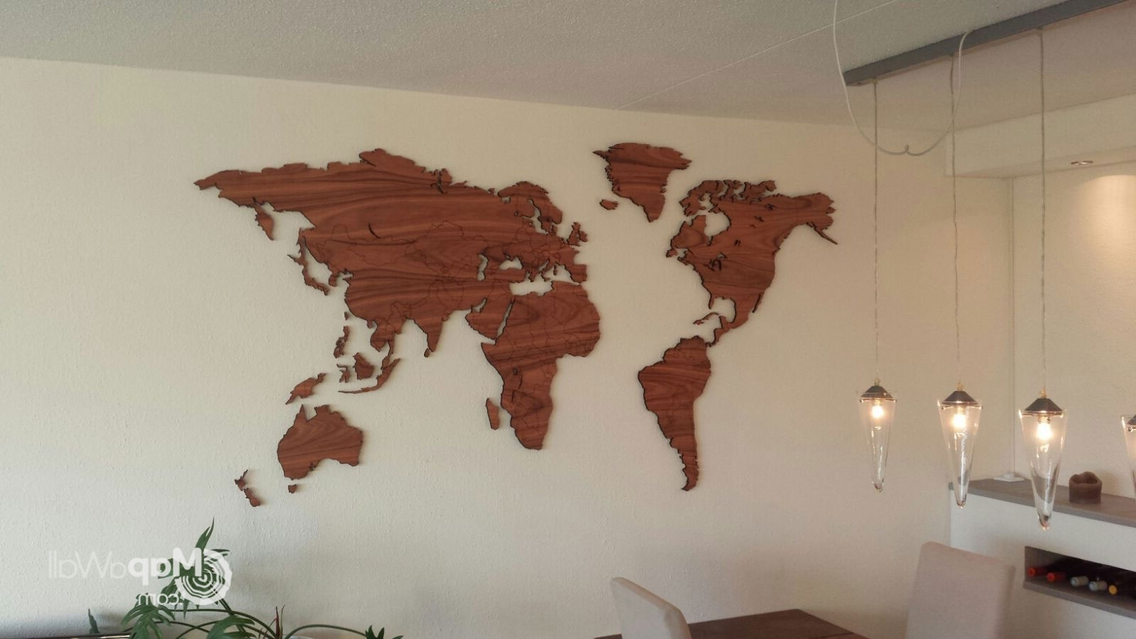 World Map Wood Wall Art Within Fashionable Wooden World Map Wall Art, Wooden World Map Wall Art (View 15 of 15)