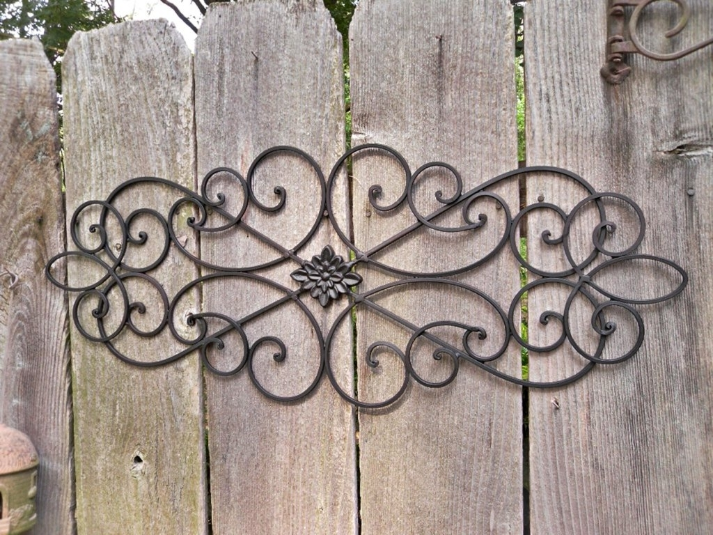 Wrought Iron Garden Wall Art With Regard To Newest Outdoor Metal Wall Art Design Ideas (View 13 of 15)
