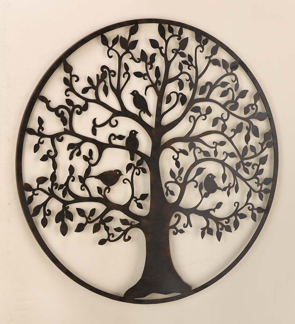 Wrought Iron Tree Wall Art With Regard To Well Known Bird Tree Wall Art In Metal (View 6 of 15)