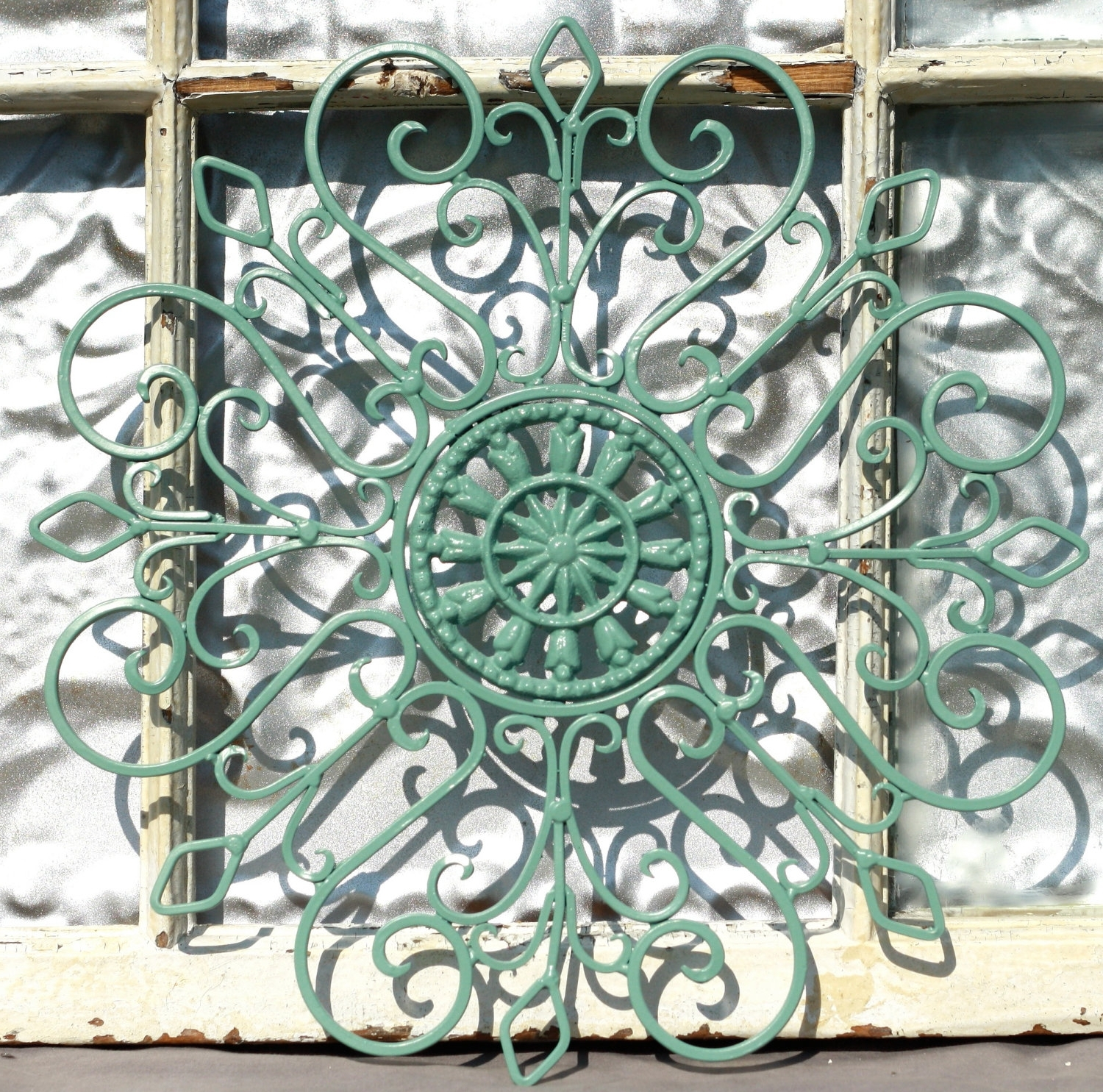 Wrought Iron Wall Decor/ Metal Wall Hanging/ Indoor/ Outdoor Metal Within Most Recent Outdoor Medallion Wall Art (View 3 of 15)