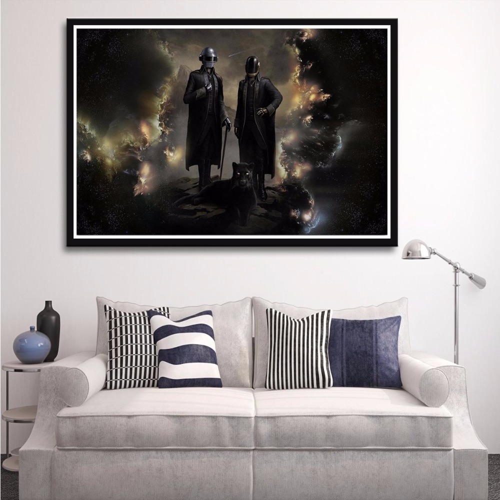 X167 Daft Punk The Weeknd Rap Music Starboy Metallic Art Print Throughout 2017 The Weeknd Wall Art (View 15 of 15)