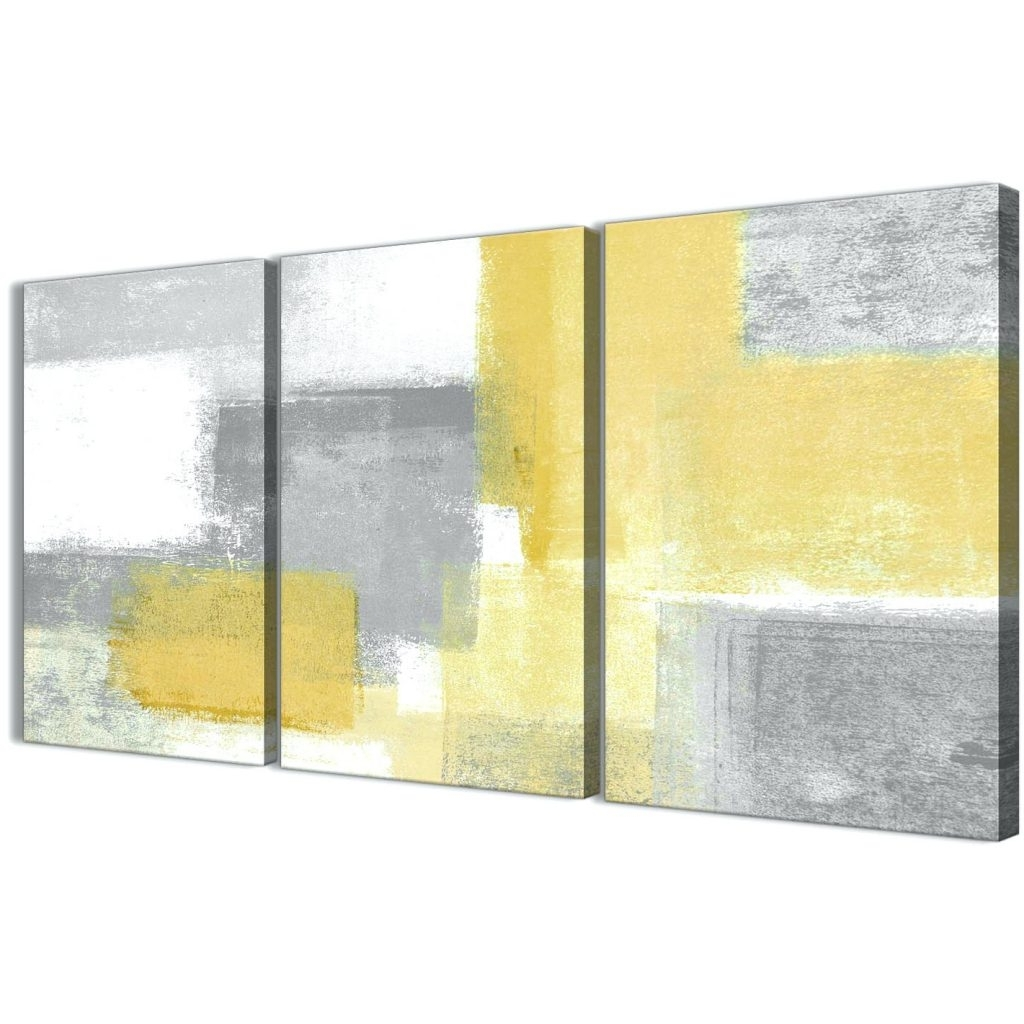 Modern Grey And Yellow Wall Art Photo - Wall Art Collections ...