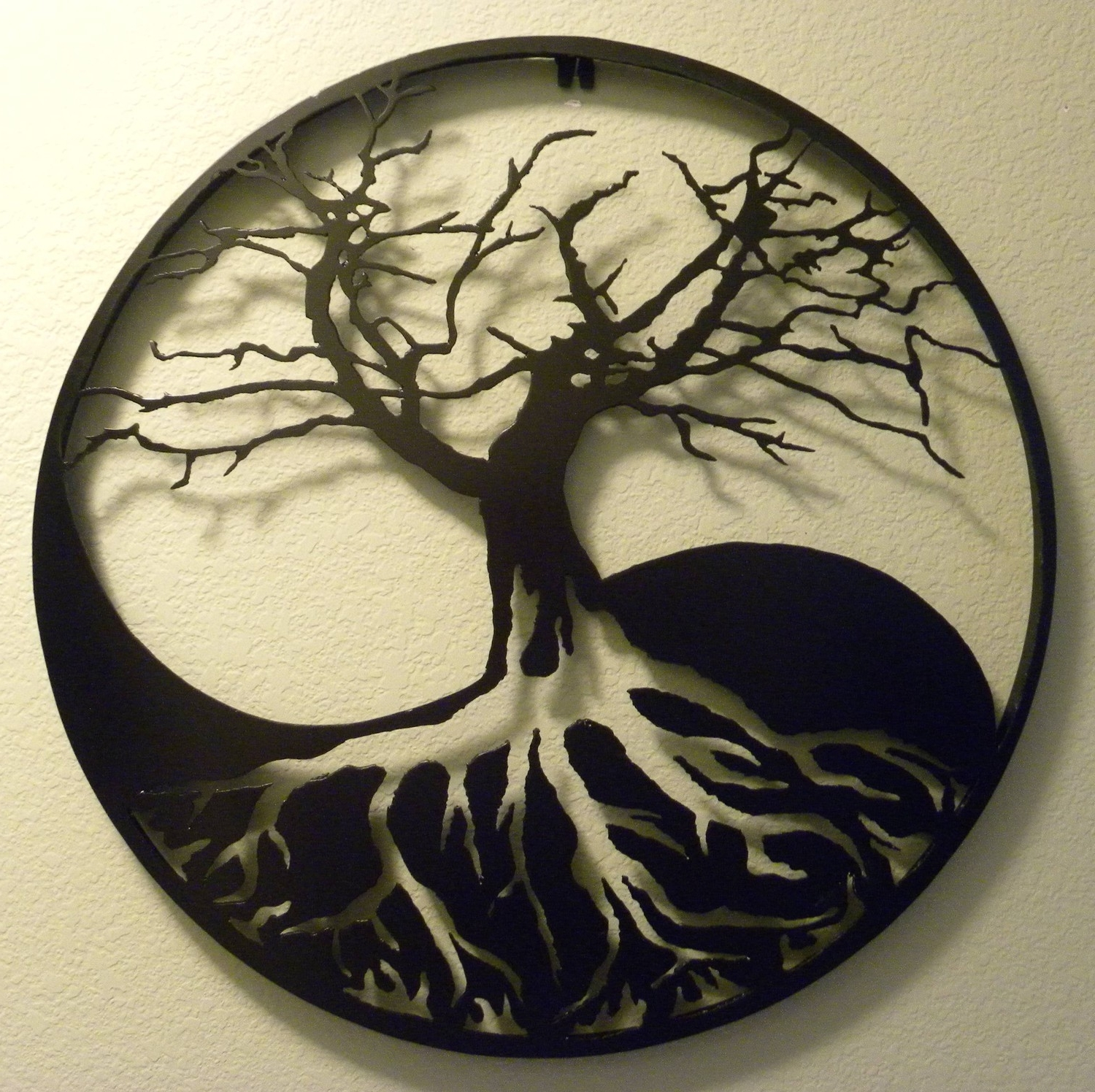 Yin Yang Wall Art Inside Preferred Wall Art Ideas Design : Tree White Yin Yang Wall Art Black Root (View 13 of 15)