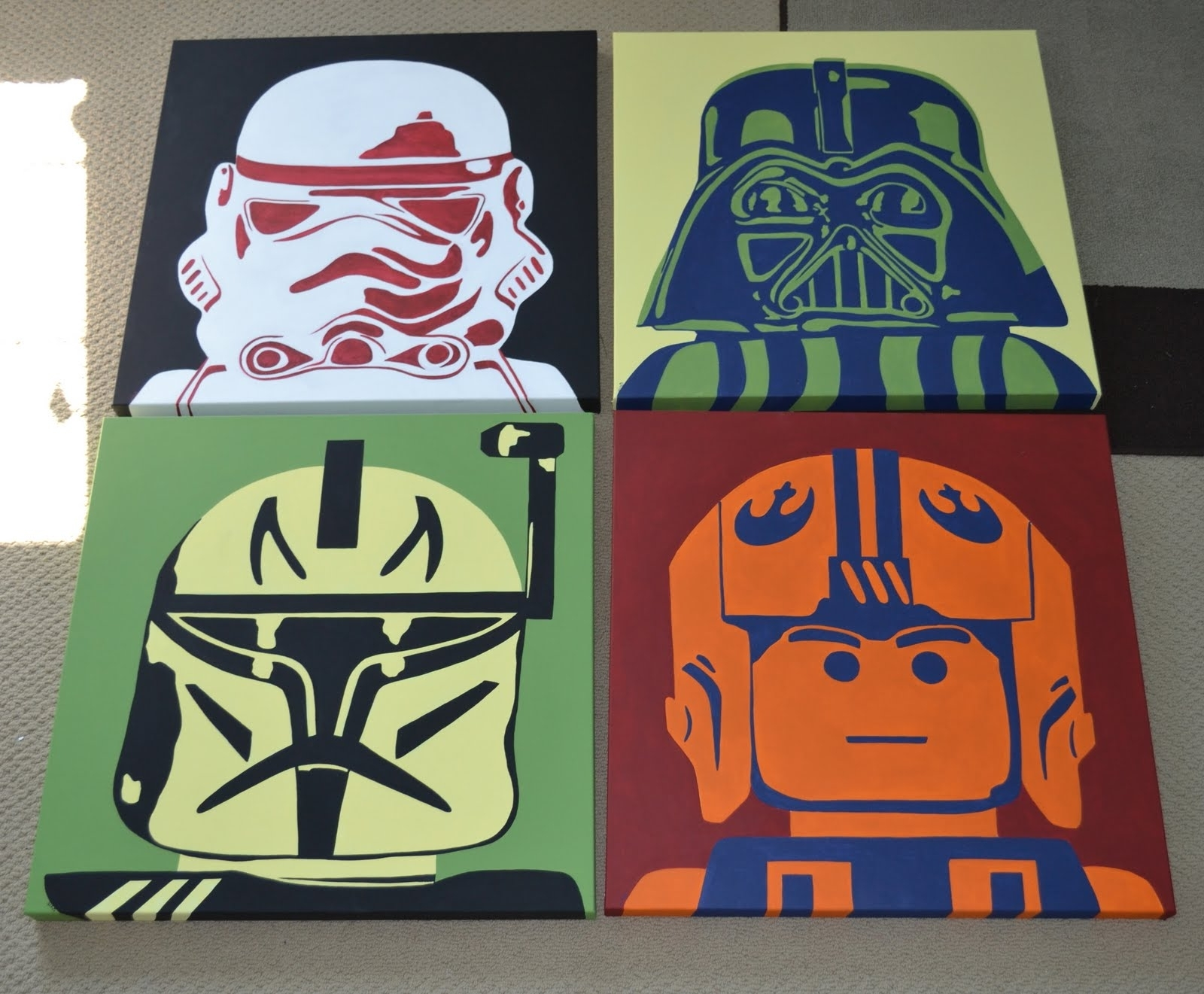 You're Artcorie Kline: Star Wars Legos Pop Art Intended For Preferred Lego Star Wars Wall Art (View 15 of 15)