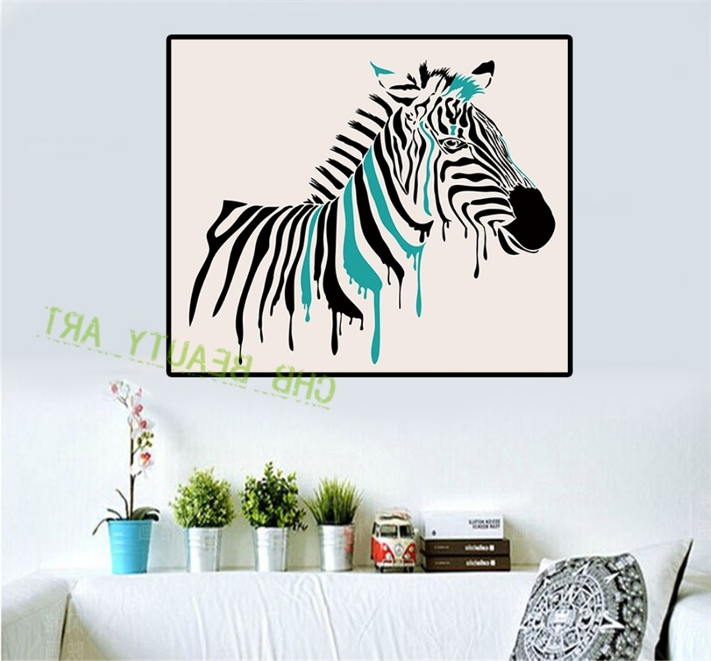 Zebra Wall Art Canvas In Current Mesmerizing 50+ Zebra Wall Art Decorating Inspiration Of 53 Zebra (View 11 of 15)