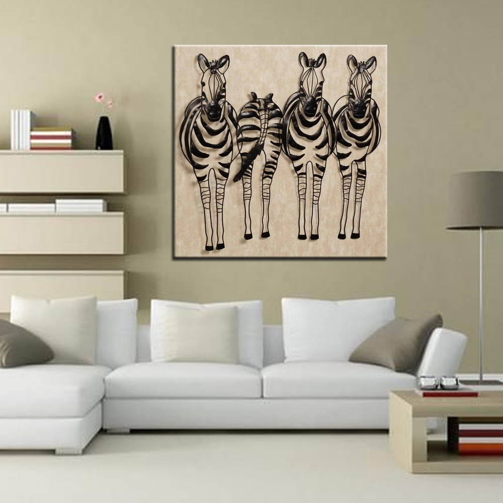 Zebra Wall Art Canvas Inside Recent Zebra Canvas Zebra Wall Decor Zebra  Decor U2013 Materials Used
