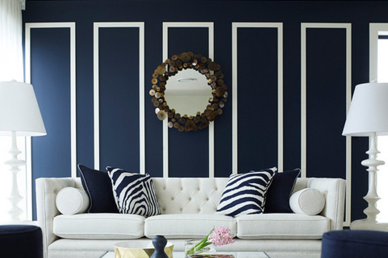 10 Navy Rooms To Inspire You To Pick Up The Paintbrush (photos In Best And Newest Navy Wall Accents (View 11 of 15)
