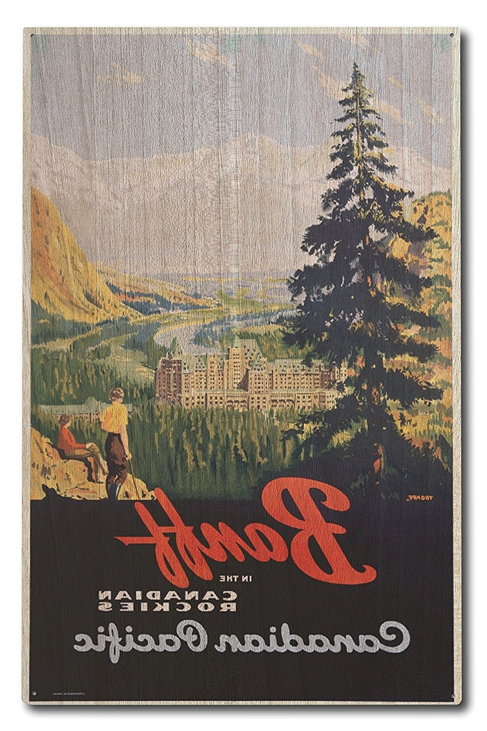 2017 Amazon: Banff – Canadian Pacific Vintage Poster (artist Pertaining To Kohls 5 Piece Canvas Wall Art (View 9 of 15)