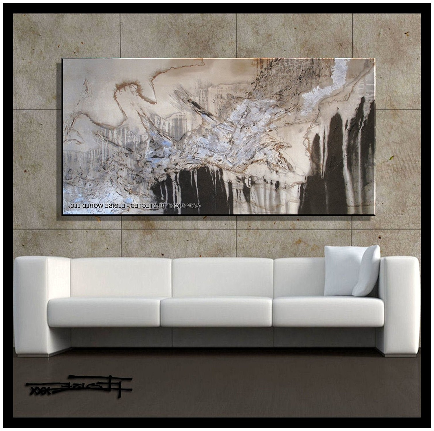 "2017 Amazon: Xl Modern Canvas Wall Art – ""emerging Eagle"" Limited Throughout Embellished Canvas Wall Art (View 8 of 15)"