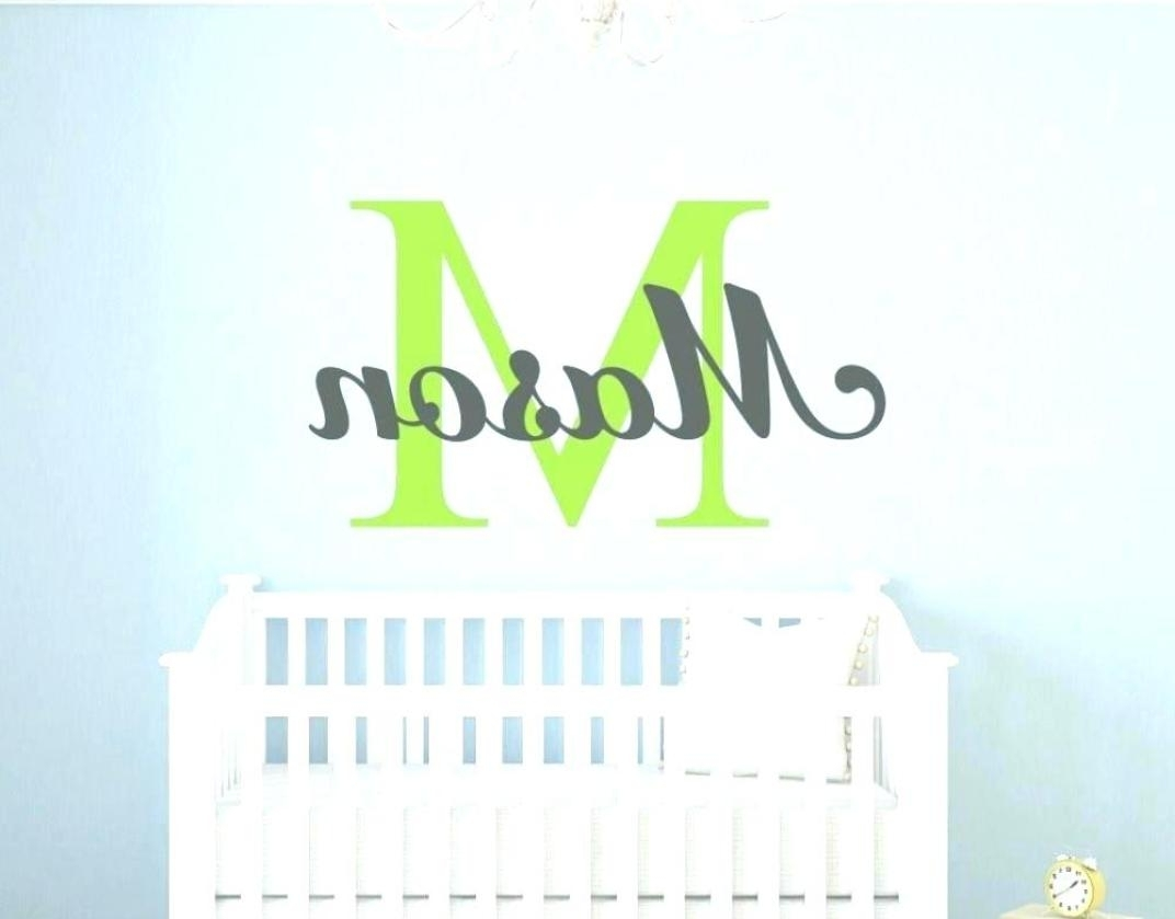 2017 Baby Names Canvas Wall Art With Sticker : Nursery Canvas Wall Art Boy Nursery Canvas Wall Art Girl (Gallery 13 of 15)
