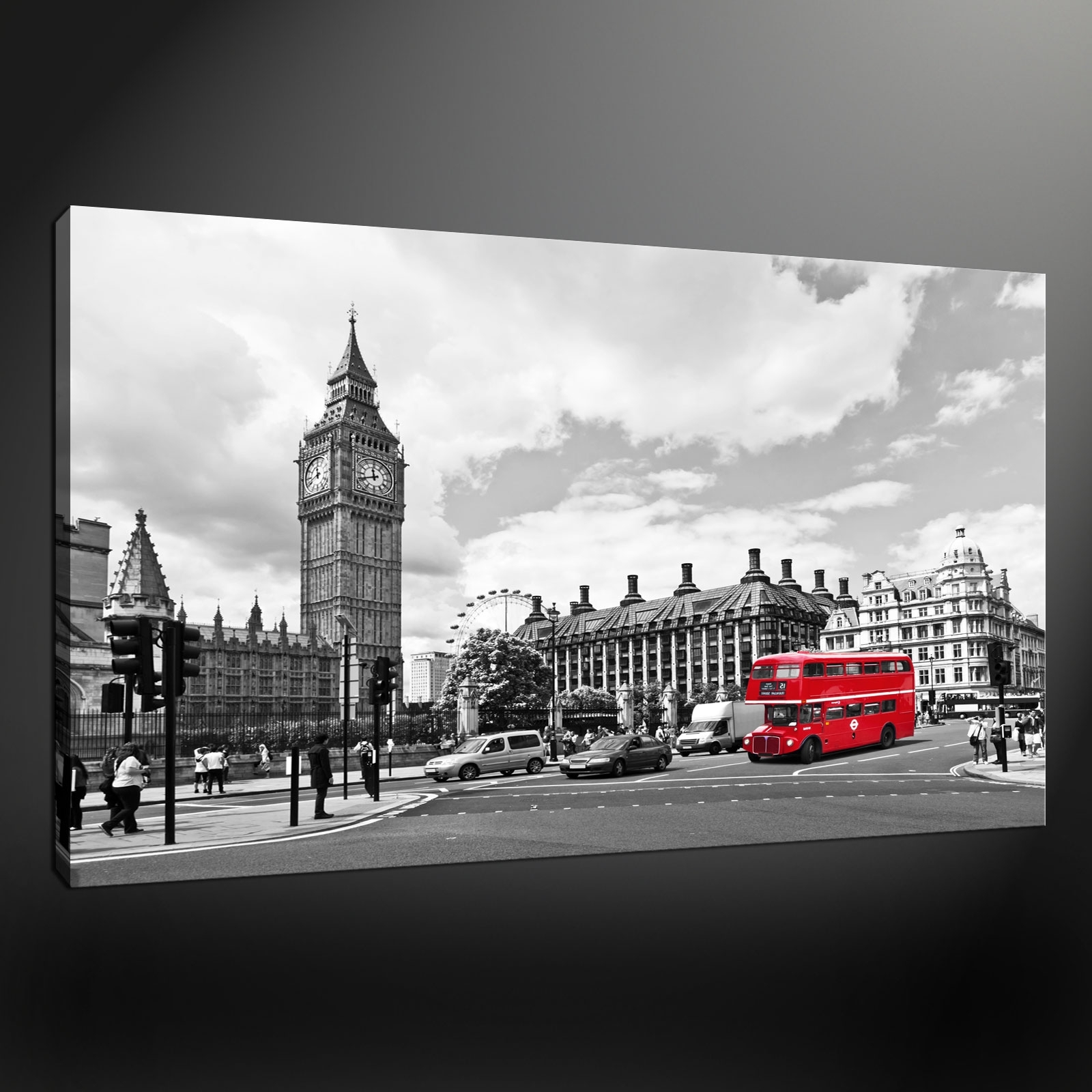 2017 Canvas Wall Art Of London Pertaining To London Big Ben Canvas Print Picture (View 1 of 15)