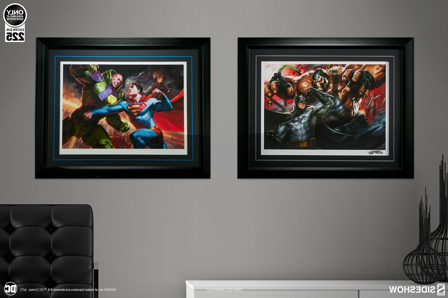 2017 Framed Comic Art Prints Throughout Dc Comics Batman Vs Bane Premium Art Printsideshow Colle (Gallery 9 of 15)