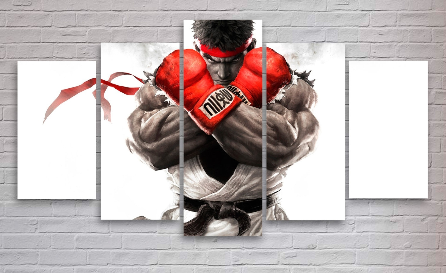 2017 Gaming Canvas Wall Art Throughout Street Fighter Gaming 5 Piece / Panel Canvas – Wall Art – Office (View 1 of 15)