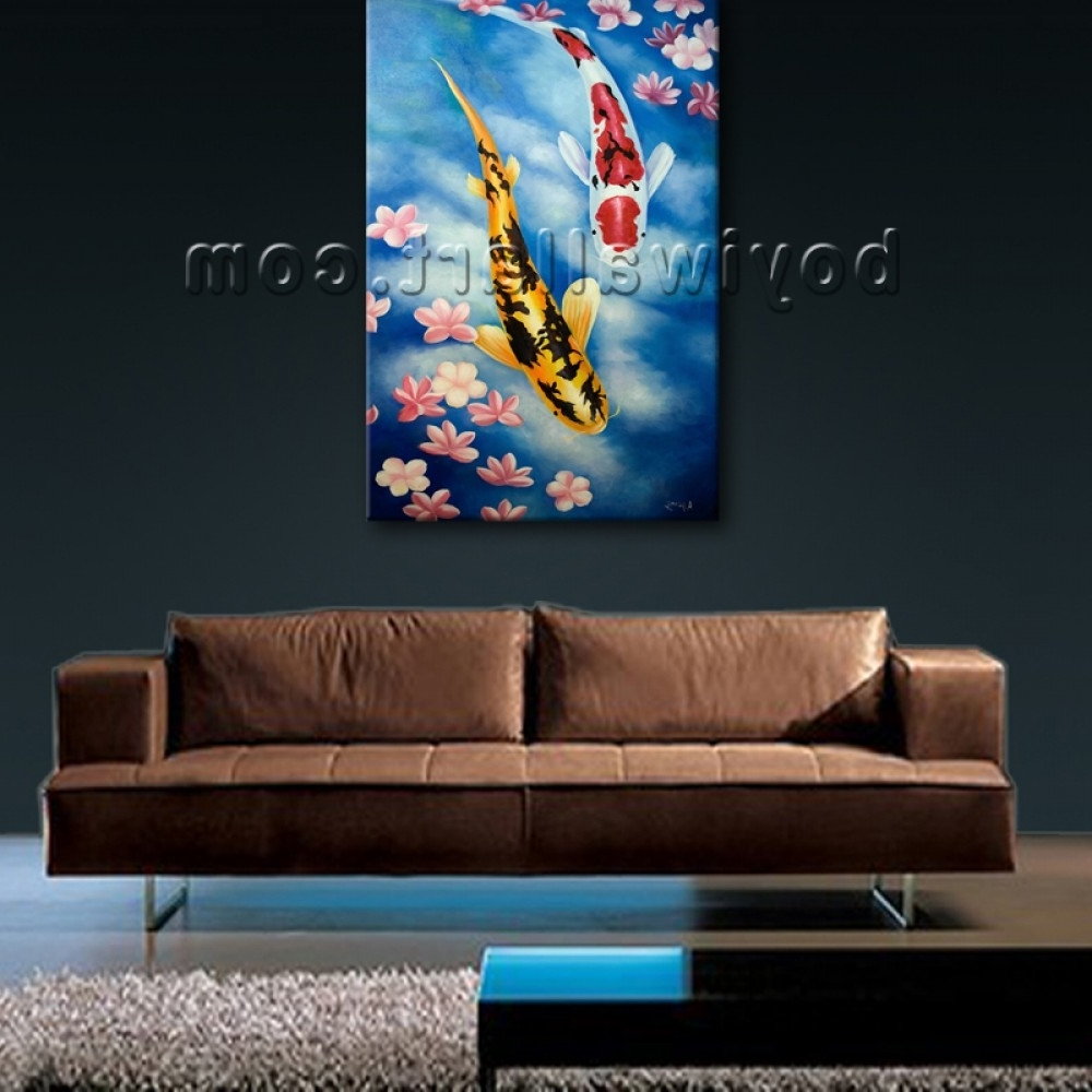 15 ideas of koi canvas wall art for Koi carp wall art