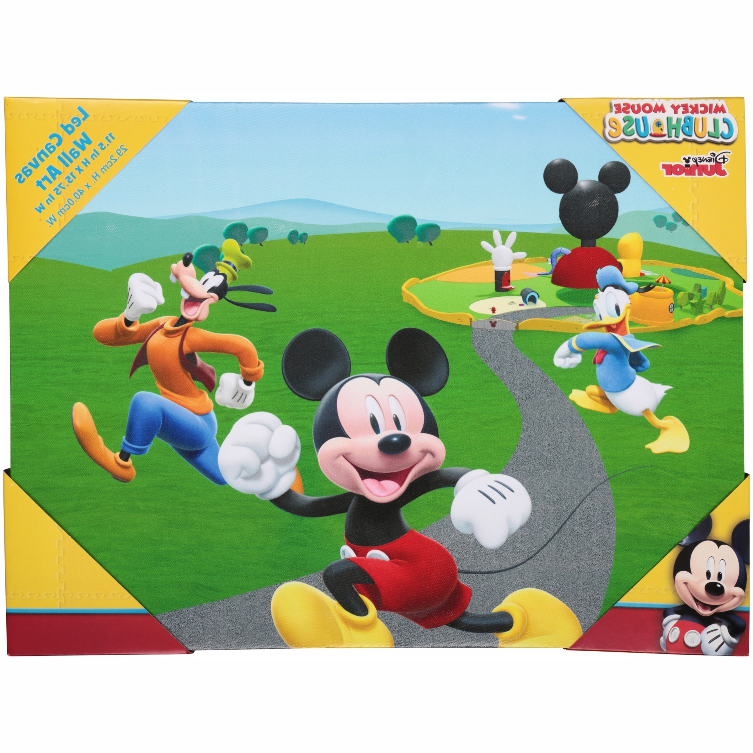 2017 Mickey Mouse Canvas Wall Art With Disney Junior Mickey Mouse Clubhouse Led Canvas Wall Art – Walmart (View 1 of 15)