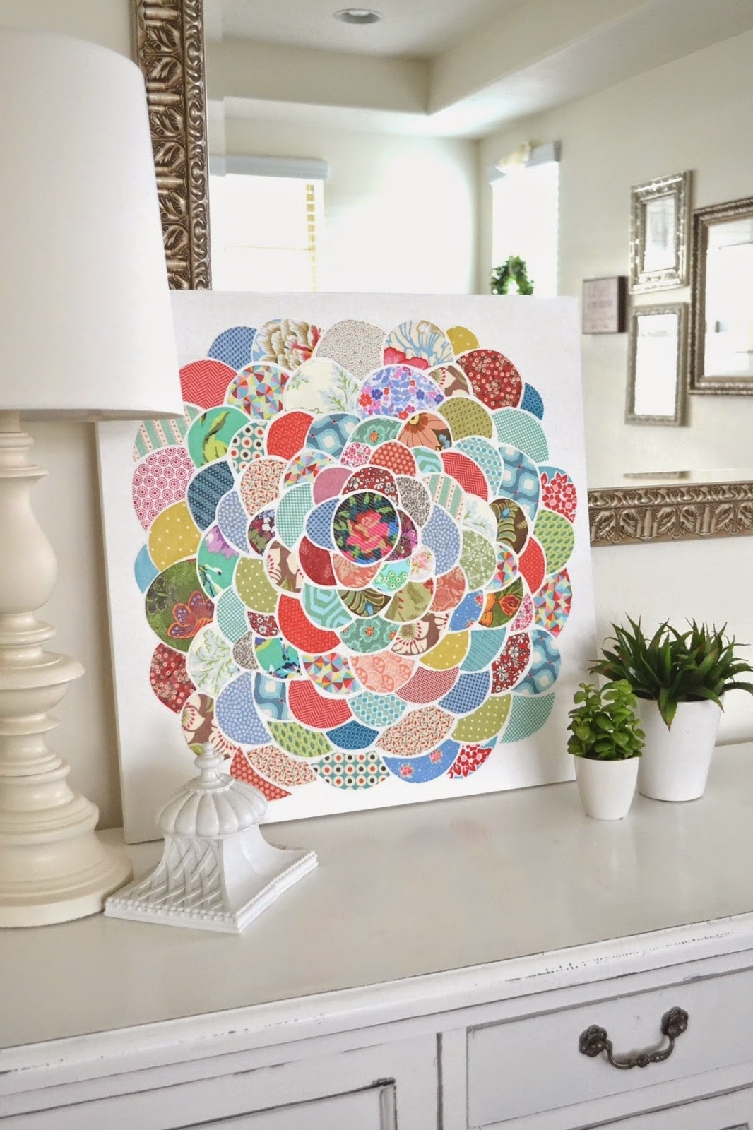2017 Mod Podge Fabric Wall Art In Tea Rose Home: Anthro Inspired ~ Canvas Flower Wall Art (View 1 of 15)