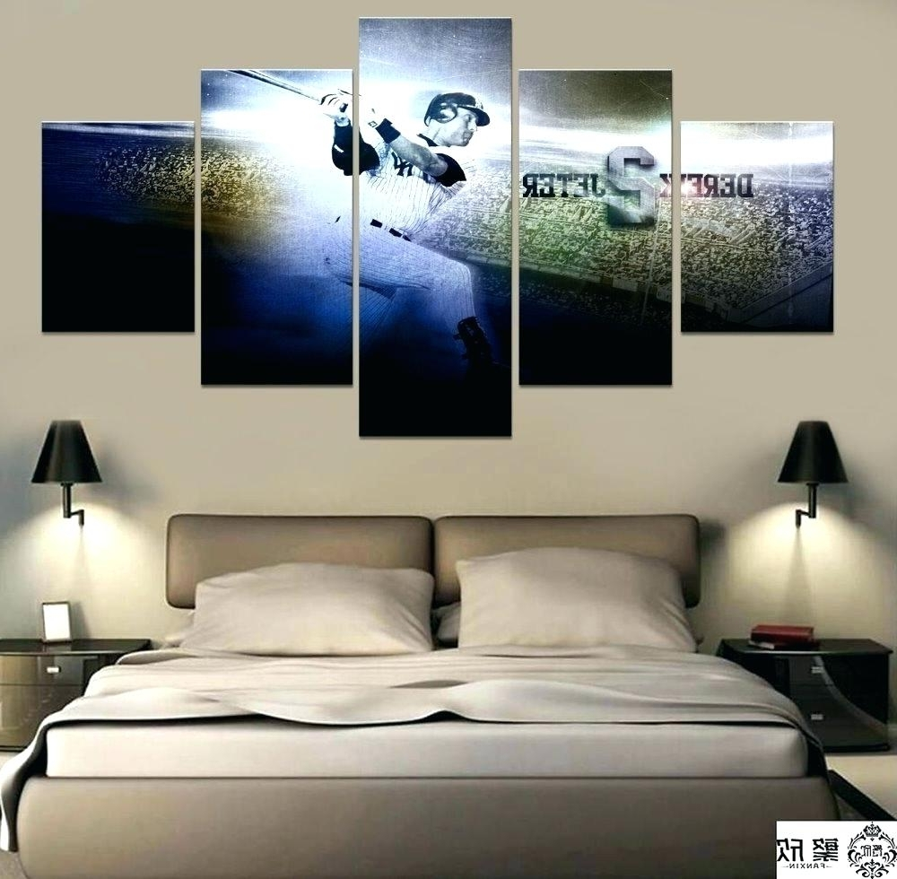 2017 New York Yankee Wall Decals Wall Ideas New Skyline Mirror Wall Inside Canvas Wall Art At Target (View 1 of 15)