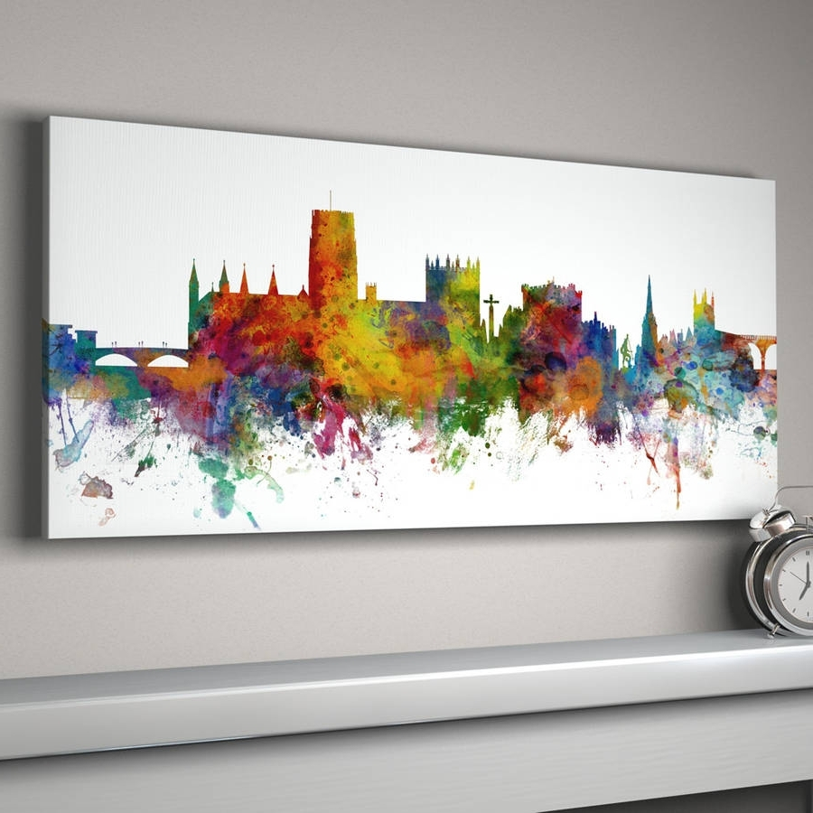 2017 Nottingham Canvas Wall Art With Regard To Durham City Skylineartpause (View 1 of 15)
