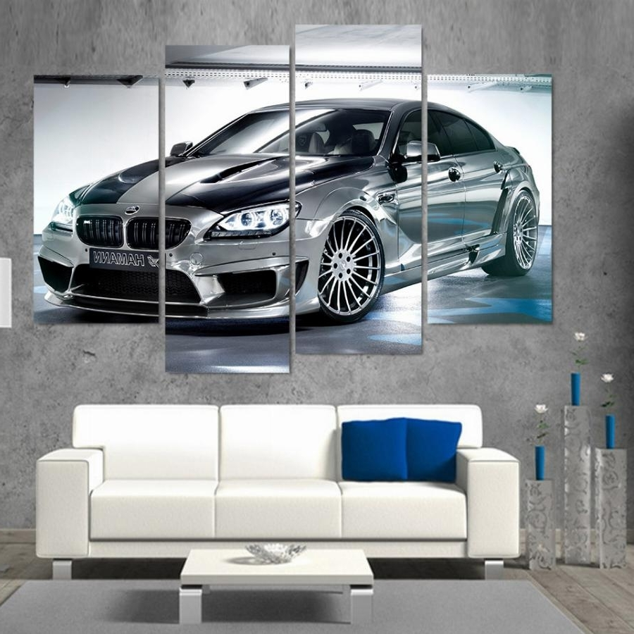 2017 Printed Bmw Gran Coupe Car Picture Painting Wall Art Room Decor For Bmw Canvas Wall Art (Gallery 1 of 15)