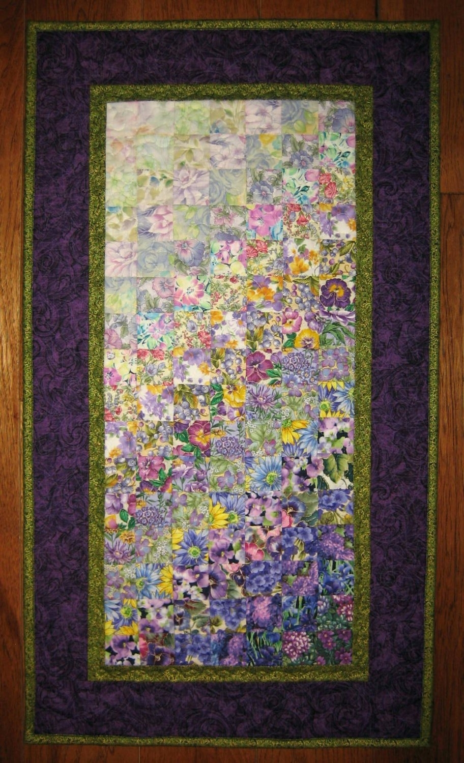 2017 Quilt Fabric Wall Art Inside Wall Arts ~ Winsome Fabric Canvas Wall Art Diy Art Quilt Purple (View 1 of 15)
