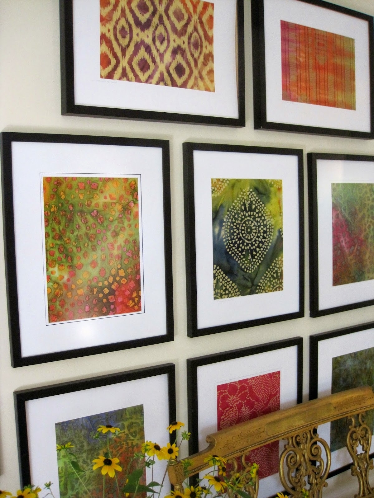 2017 Simple Details: Diy Framed Batik Fabric Great Way To Get Cheap Inside Fabric Swatch Wall Art (Gallery 4 of 15)