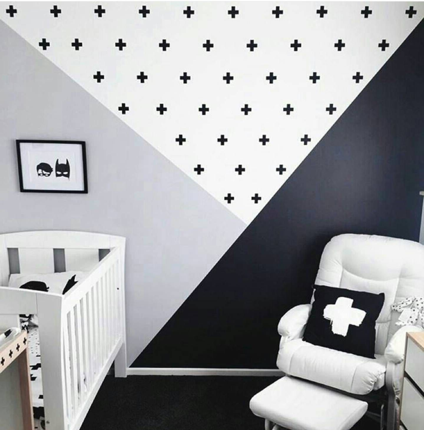 2017 Swiss Cross Wall Decals, Plus Sign Wall Stickers, Geometric Accent Pertaining To Geometric Shapes Wall Accents (Gallery 15 of 15)