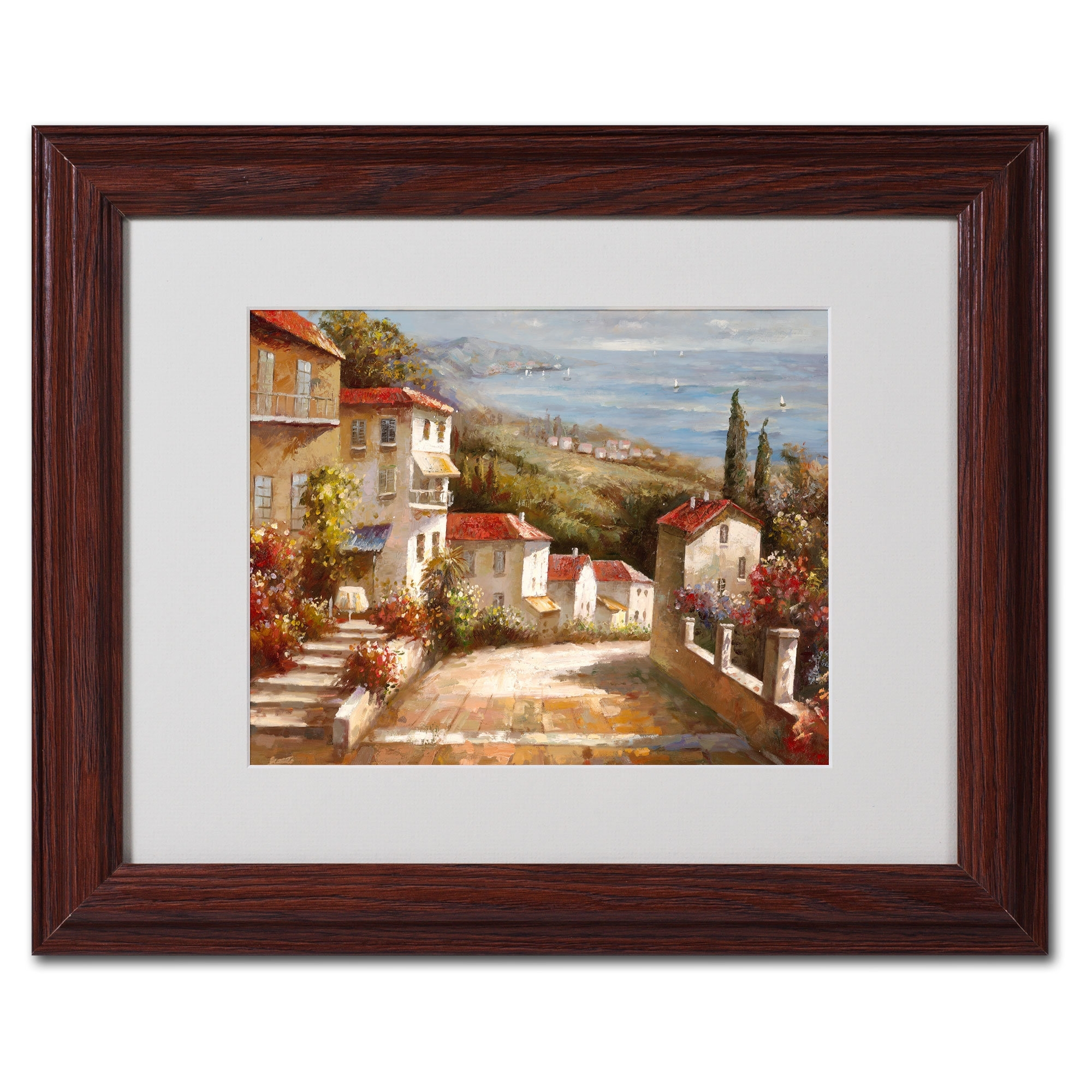 2017 Trademark Art 'home In Tuscany'joval Framed Painting Print Inside Joval Canvas Wall Art (View 9 of 15)
