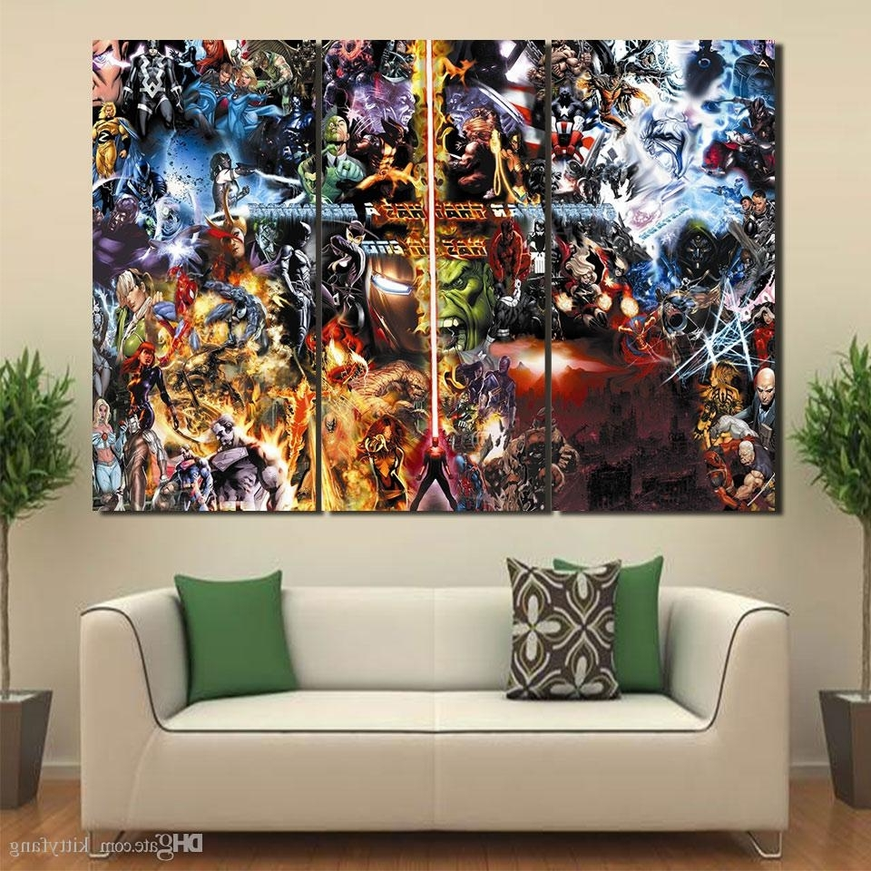 2018 Canvas Art Final War Marvel Poster Hd Printed Wall Art Home Regarding Well Known Marvel Canvas Wall Art (View 2 of 15)