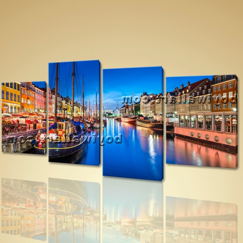 2018 Canvas Wall Art Print Painting Italy Venice Night Hd Picture Home In Italy Canvas Wall Art (View 1 of 15)