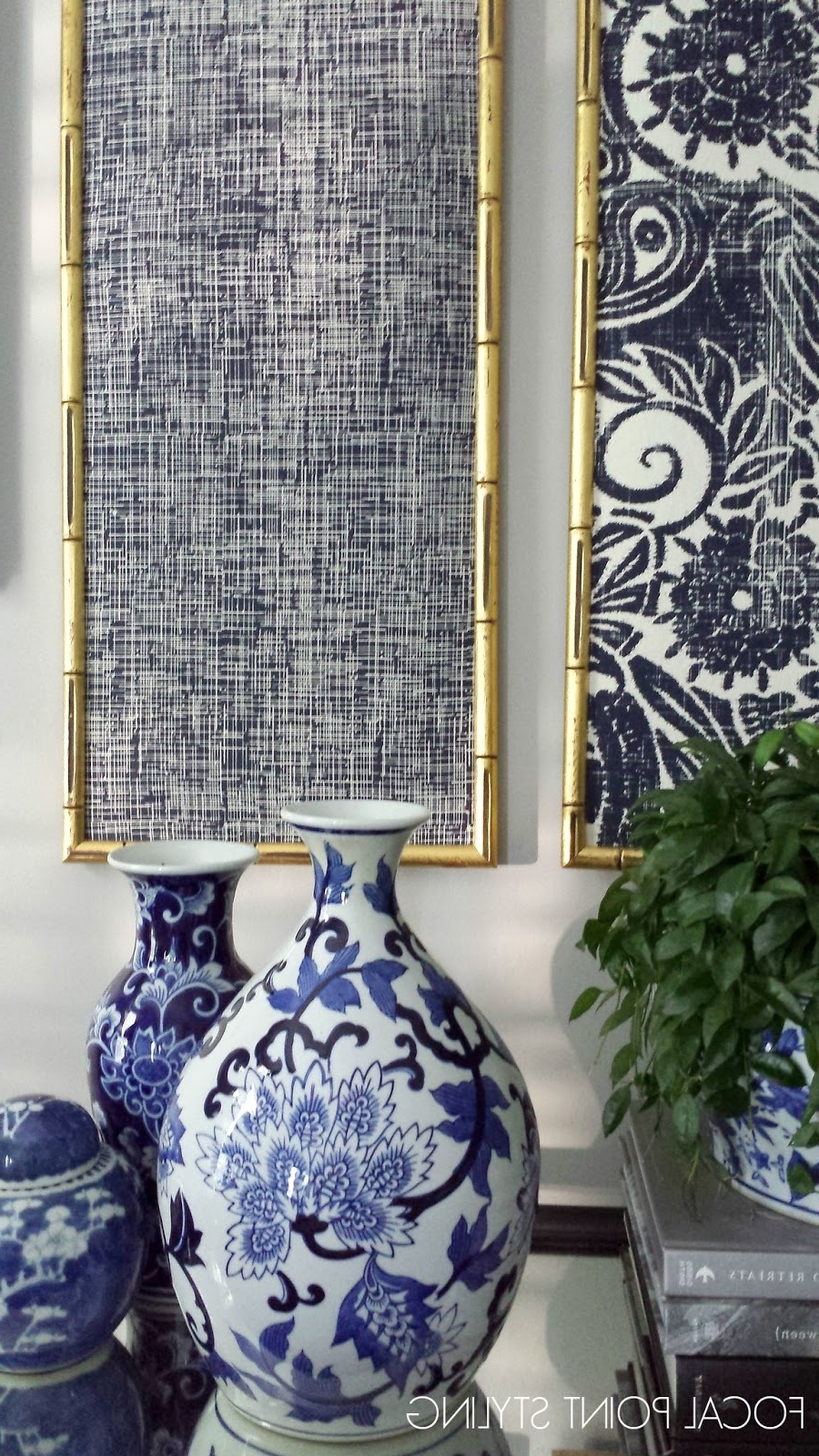 2018 Focal Point Styling: Diy Indigo Wall Art With Framed Fabric Regarding High End Fabric Wall Art (View 1 of 15)