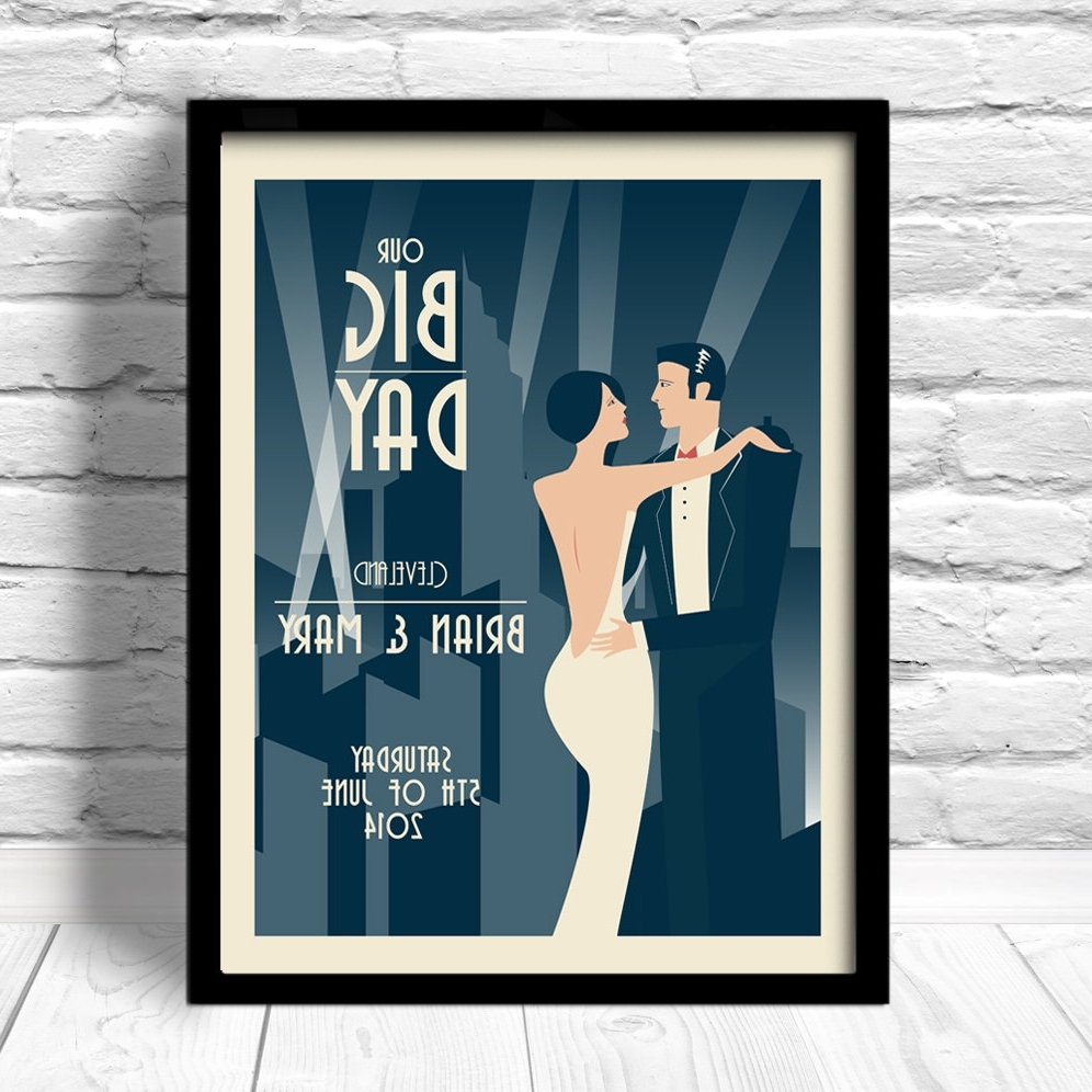 2018 Framed Art Deco Prints With Regard To Deco Wedding Poster (View 2 of 15)