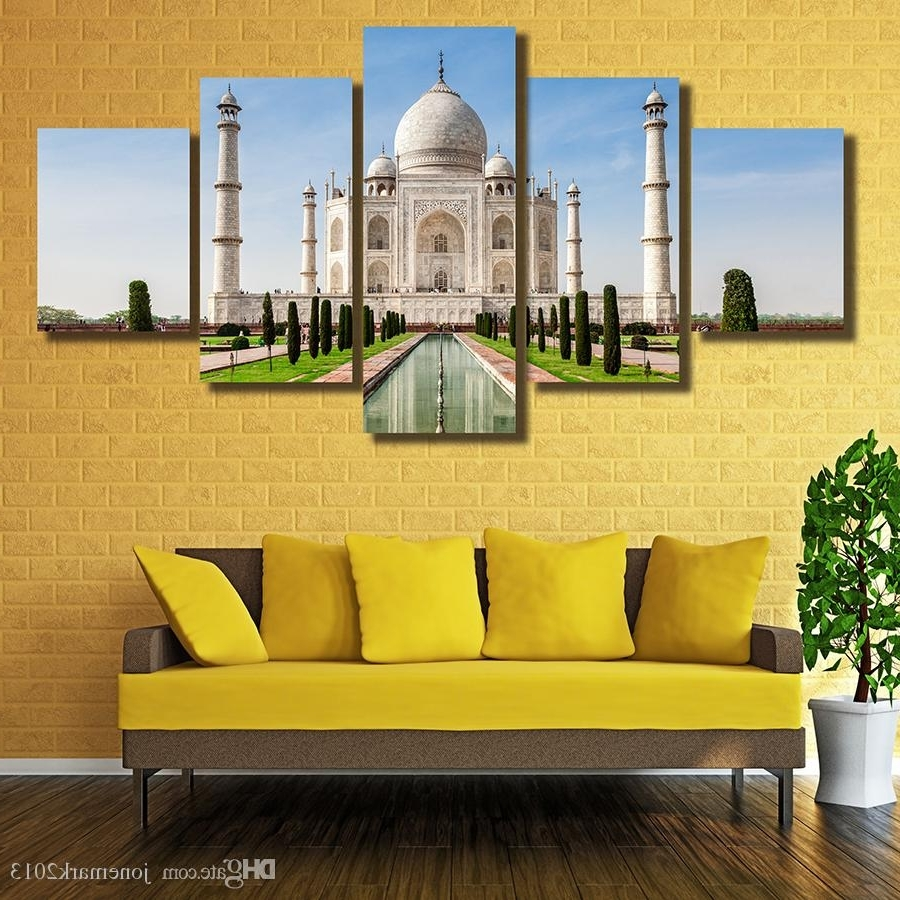 2018 Framed Hd Printed The Taj Mahal In India Picture Wall Art Throughout Preferred India Canvas Wall Art (View 2 of 15)