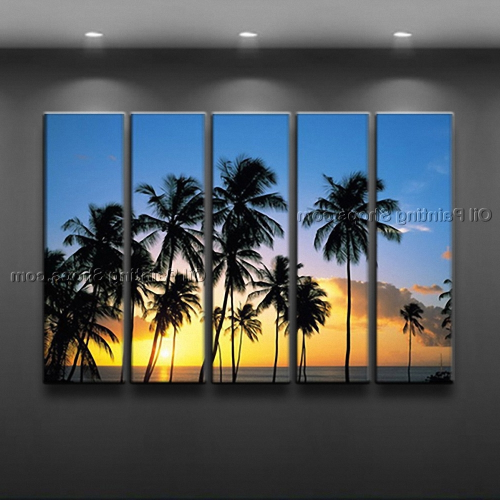 2018 Hawaii Canvas Wall Art With Regard To Contemporary Wall Art Seascape Painting Hawaii Beach Ocean Paintings (View 2 of 15)