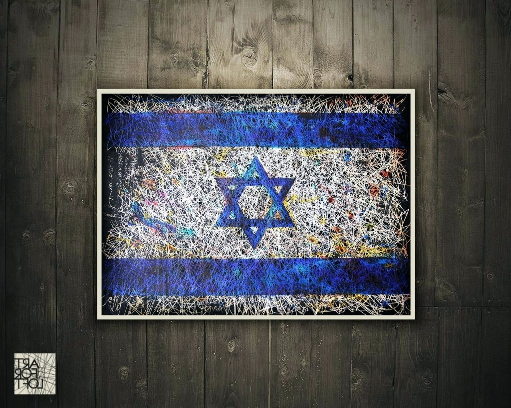 2018 Jewish Canvas Wall Art Intended For Wall Arts ~ Israel Flag Wall Art Jewish Art Jewish Tree Of Life (View 3 of 15)