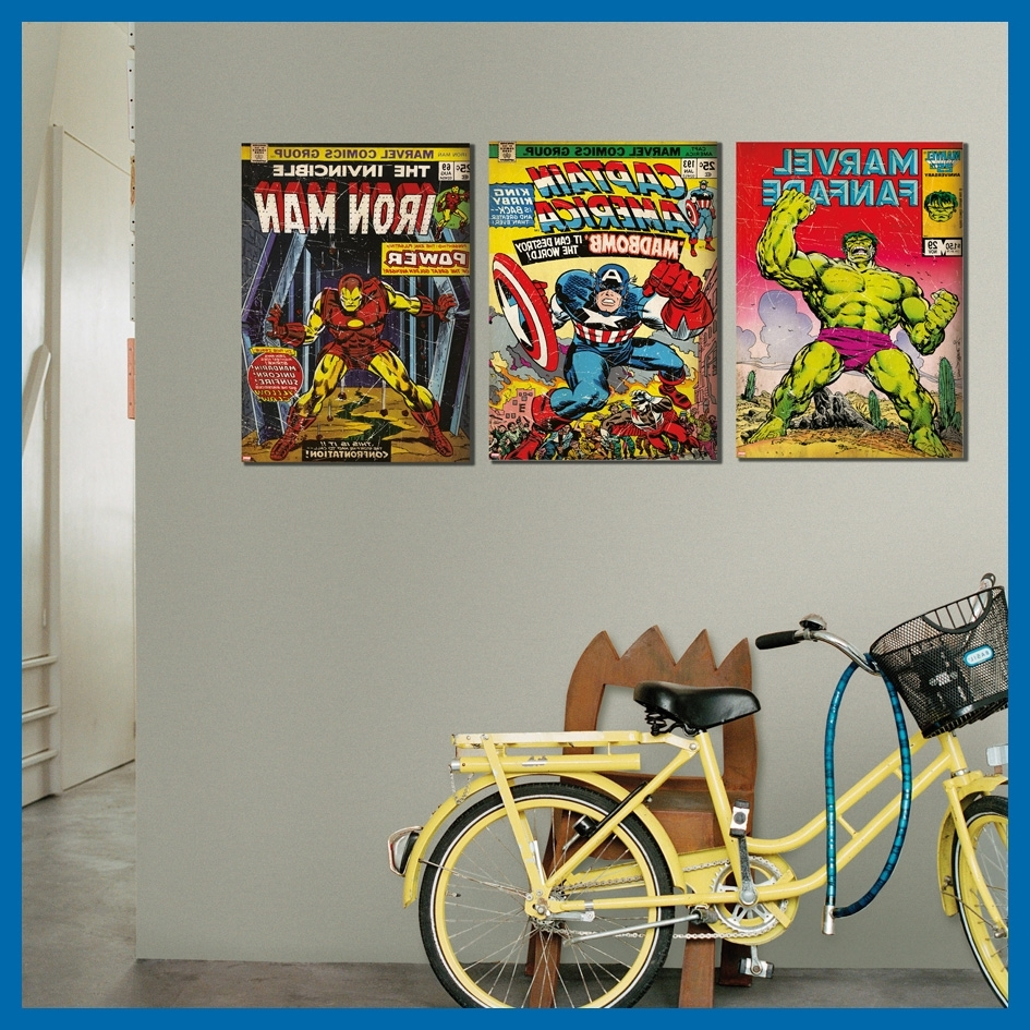 2018 Marvel Canvas Wall Art Intended For Marvel Has Arrived (Gallery 4 of 15)