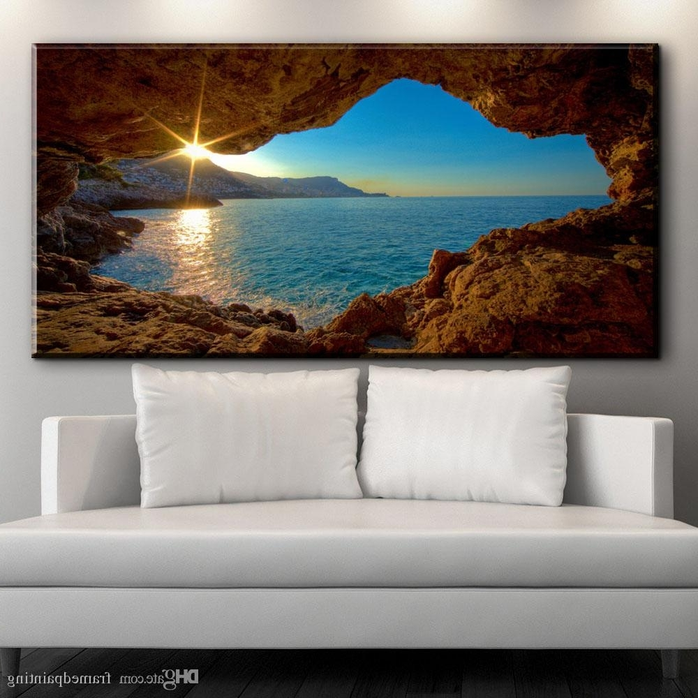 2018 Modern Decorative Canvas Art Prints French Riviera Beautiful Throughout Most Recent Framed Canvas Art Prints (View 1 of 15)
